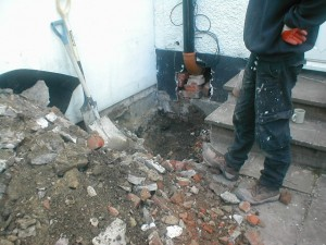 Party Wall Trial Pit