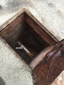 Blocked drains? Always check them before and after #patywall work!
